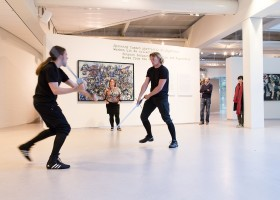 live performance during the exhibition